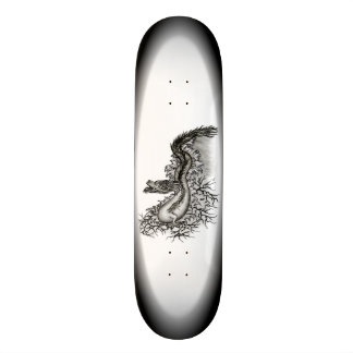 China-Drache in Tattoostyle 20,6 Cm Skateboard Deck