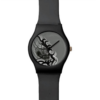 China-Drache in Tattoostyle Armbanduhr