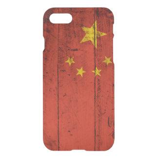 China-Flagge auf altem hölzernem Korn iPhone 8/7 Hülle