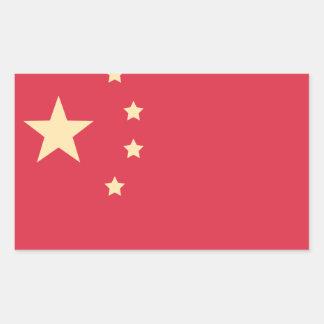 China-Flagge - Emoji Twitter Rechteckiger Aufkleber