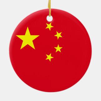 China-Flagge Keramik Ornament