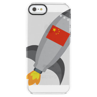 China-Flagge Rocket Durchsichtige iPhone SE/5/5s Hülle