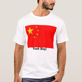 China-Flagge, Yeah Junge! T-Shirt