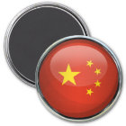 China-Flaggen-Glasball Runder Magnet 7,6 Cm