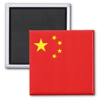 China-Flaggen-Magnet Quadratischer Magnet