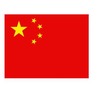 China-Flaggen-Postkarte Postkarte