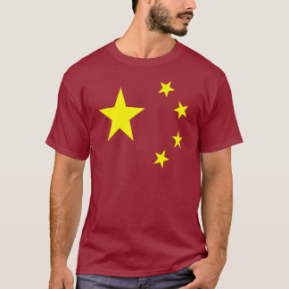 China-Flaggen-Stern T-Shirt
