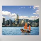 China; Hong Kong; Victoria-Hafen; Hafen; A Poster