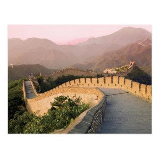 China, Huairou Landkreis, Sonnenuntergang über Postkarte