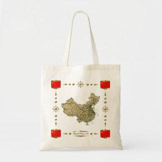China-Karte + Flaggen-Tasche Tragetasche