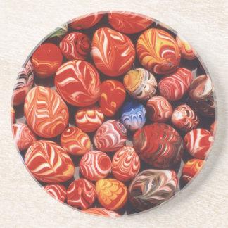 China, Ming Gräber, gemalte Glasandenken Sandstein Untersetzer