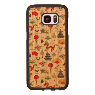 China-Symbol-Muster Samsung Galaxy S7 Edge Holzhülle