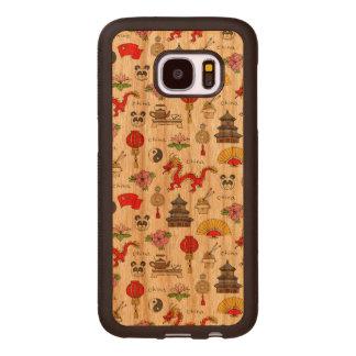 China-Symbol-Muster Samsung Galaxy S7 Holzhülle