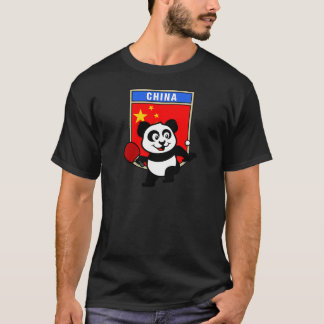 China-Tischtennis-Panda T-Shirt