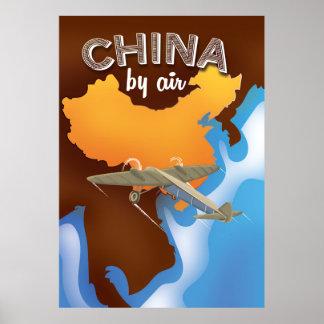 China-Vintages Reiseplakat Poster