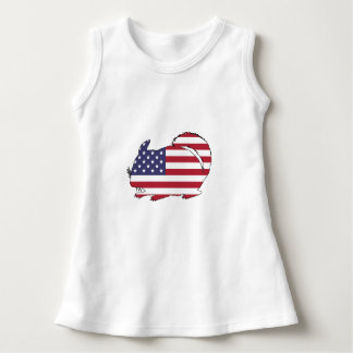 """Chinchilla """"amerikanische Flagge """" Kleid"""