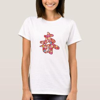 "Chinese ""Chun"" Kalligraphie-Frühlings-Blumen-T - T-Shirt"