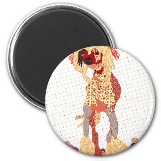 Chinese Crested Runder Magnet 5,7 Cm
