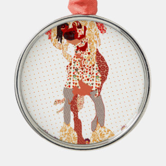 Chinese Crested Silbernes Ornament