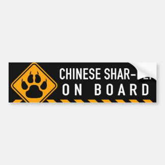 Chinese Shar-Pei an Bord Autoaufkleber