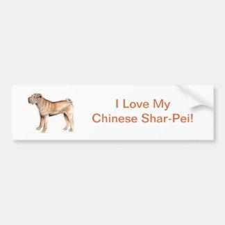 Chinese Shar-Pei Autoaufkleber