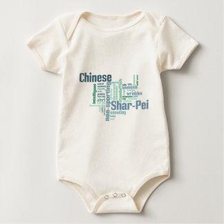 Chinese Shar-Pei Baby Strampler