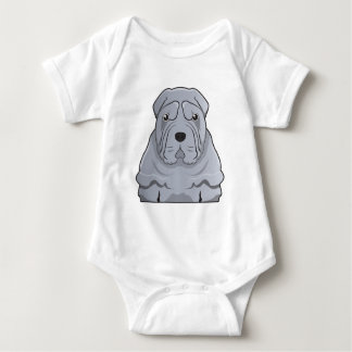 Chinese Shar-Pei Cartoon Baby Strampler