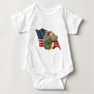 Chinese Shar-Pei Flagge Baby Strampler