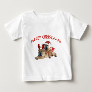 Chinese Shar-pei frohe Weihnacht-Kleid Baby T-shirt