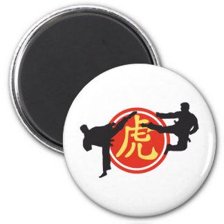chinese sign martial arts runder magnet 5,1 cm