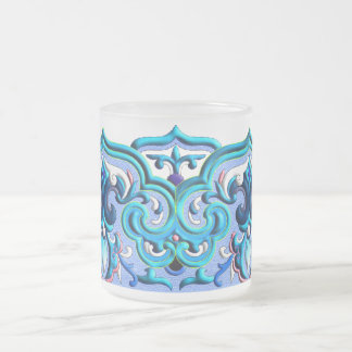 Chinesische blaue schöne Neonverzierung Mattglastasse