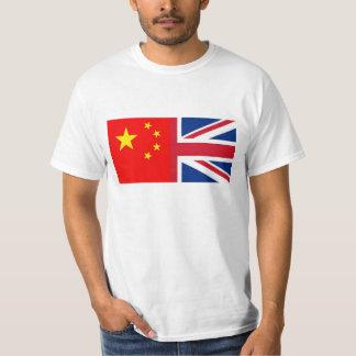 Chinesische - China - britische Flagge - T-Shirt