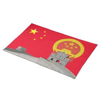 Chinesische Flagge Stofftischset