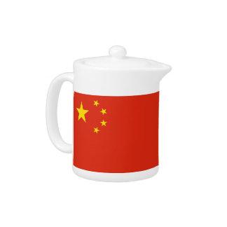 Chinesische Flaggen-Teekanne