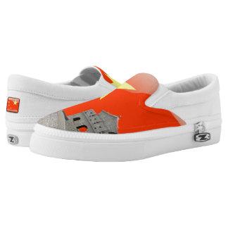 Chinesische glatte Flagge Slip-On Sneaker