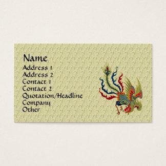 Chinesische Hahn-Kunst-Entwurfs-Visitenkarte Visitenkarte