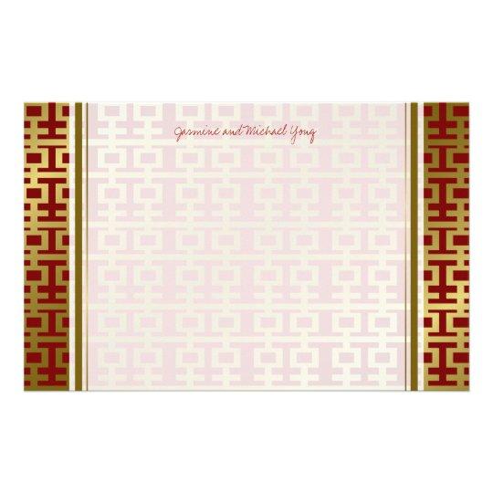 Chinesische Hochzeits-rotes doppeltes Büropapier