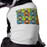 Chinesische HundeCartoon Pop-Kunst mit Haube Hund T-shirt