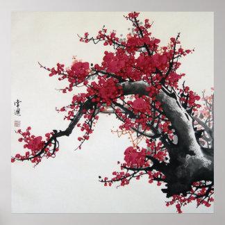 Chinesische Kirschblüte Plakatdruck