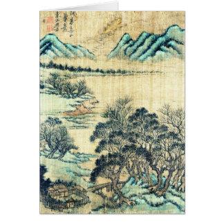 Chinesische Landschaft 1730 Grußkarte