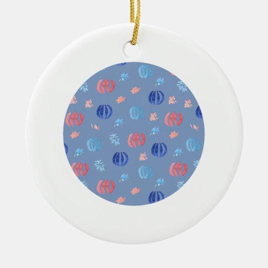 Chinesische Laternen-Kreis-Verzierung Rundes Keramik Ornament