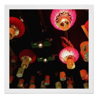 Chinesische Laternen Poster