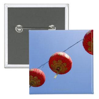 Chinesische Laternen Quadratischer Button 5,1 Cm