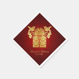 Chinesische Liebe-Vogel-doppeltes Glück-Symbol Serviette