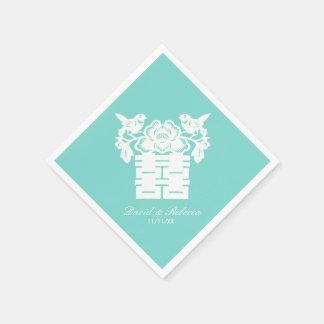 Chinesische Liebe-Vogel-doppeltes Glück-Symbol Servietten