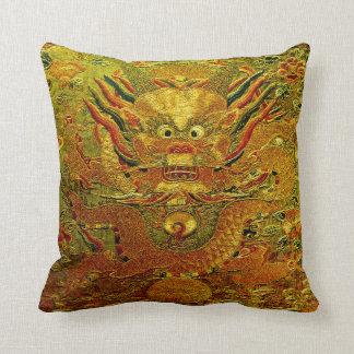 Chinesische Ming-Dynastie Stickerei des goldenen Zierkissen