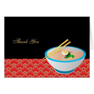 Chinesische Nahrung danken Ihnen Karte