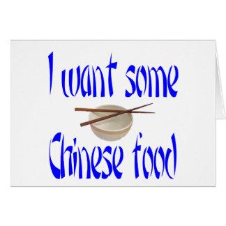 chinesische Nahrung Karte