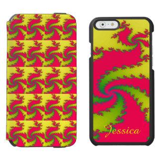 Chinesische neues Jahr-Drache-Fraktal-Gewohnheit Incipio Watson™ iPhone 6 Geldbörsen Hülle