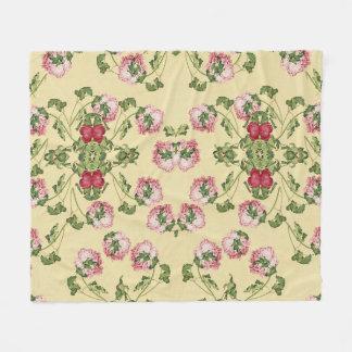 Chinesische Pfingstrosen-Blumen-BlumenFleece-Decke Fleecedecke